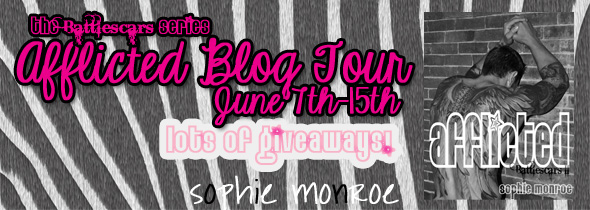 afflicted blog tour banner