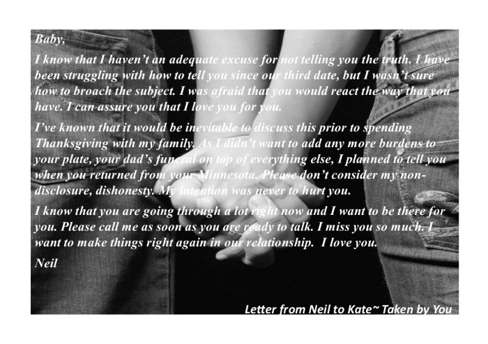 Neil's letter to Kate